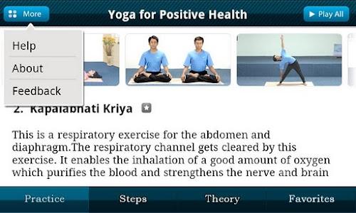 Yoga for +ve Health screenshot 1