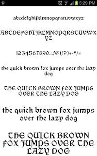 Goth Fonts for FlipFont free screenshot 01