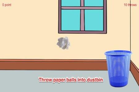A Paper Ball Throw Into Bin screenshot 1