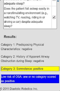 Sleep Apnea Screener screenshot 2