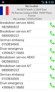 Mobile emergency call screenshot 2