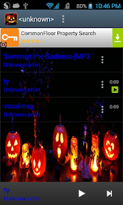 Halloween Theme Music Player screenshot 2