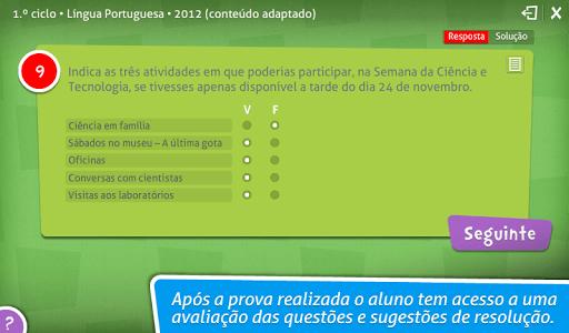 Provas Finais Português screenshot 3