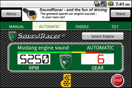 SoundRacer FREE Car Sounds screenshot 1