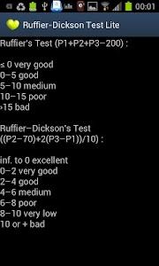 RuffierDickson Cardiotest Lite screenshot 2