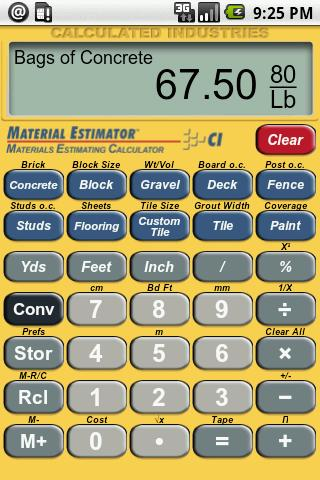 Material Estimator Calculator - Android Apps on Google Play