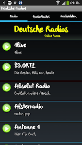 Deutsche Radios(German Radios) screenshot 0