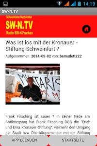 SW-N.TV - Schweinfurt/Franken screenshot 3