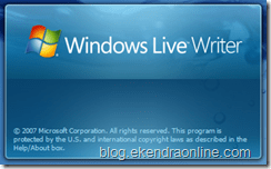 Windows Live Writer About