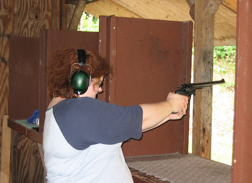 Enjoying the S&W model 17 .22LR revolver.