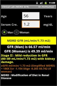 Clinical Lab ( GFR ) screenshot 2