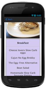 Slow Carb Diet screenshot 4