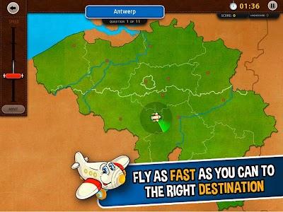 GeoFlight Belgium: Geography screenshot 0