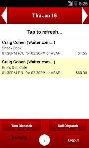 Waiter.com Driver screenshot 0