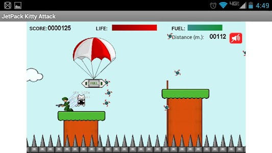 JetPack Kitty Attack Free Ver. screenshot 0