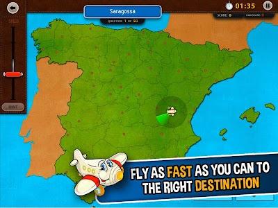 GeoFlight Spain: Geography screenshot 0