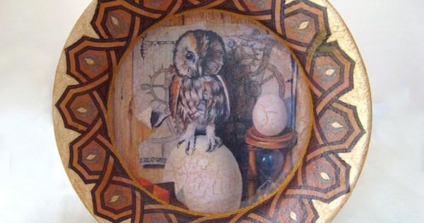 Interior&Decor: Тарелка с совой. Декупаж