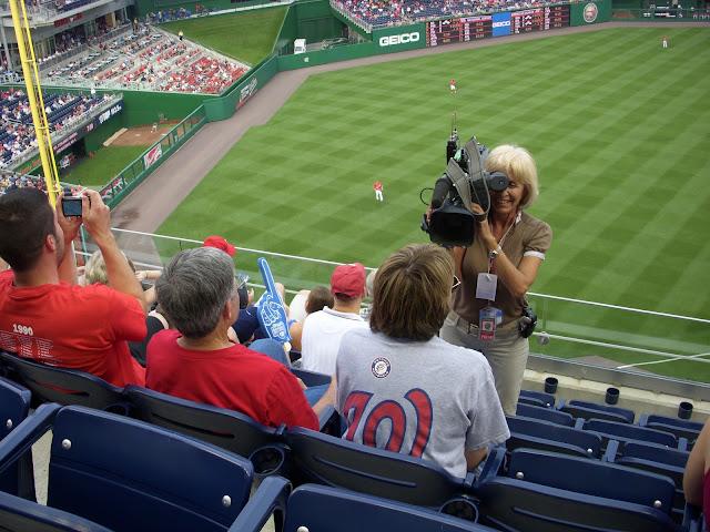 Filming fans