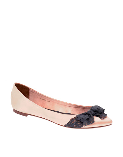 Pale Pink and Black Lace shoes by ASOS