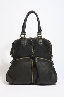 Black Zipped Shoulder Bag by Urban Outfitters