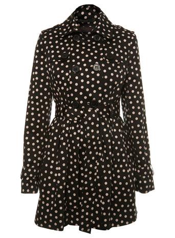 Polka Dots Print Mac Coat by Miss Selfridge