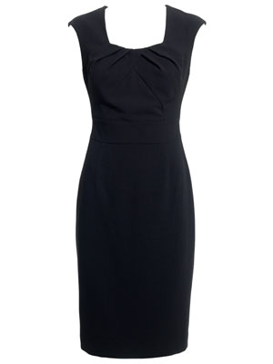 Clara Black Tailored Work Dress by Monsoon