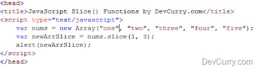 Slice() and Splice() in JavaScript