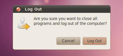 screenshots ubuntu 10.04 lucid log out dialog