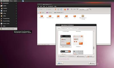 Impression Ubuntu 10.10 maverick meerkat