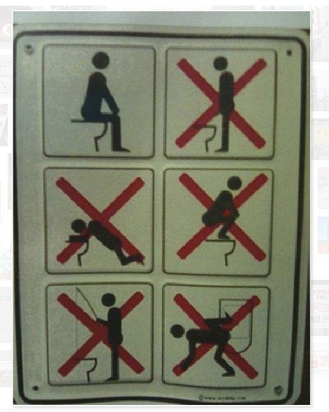 Prohibido pescar en el baño