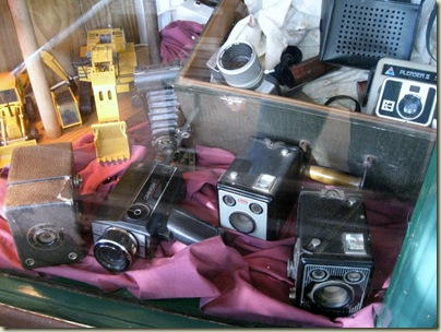 Old cameras in store window Pilgrims Rest Mpumalanga South Africa