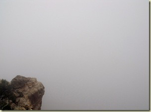 Point Imperial fogged in North Rim Grand Canyon National Park Arizona