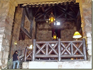 Main lobby from sunroom in Grand Lodge North Rim Grand Canyon National Park Arizona