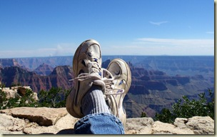 05 Gaelyn's feet on Lodge veranda wall overlooking canyon NR GRCA NP AZ (1024x640)