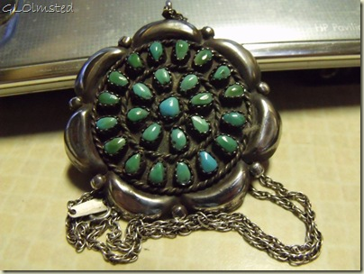 Sterling and turquoise pendant-broche from Mom San Benito Texas