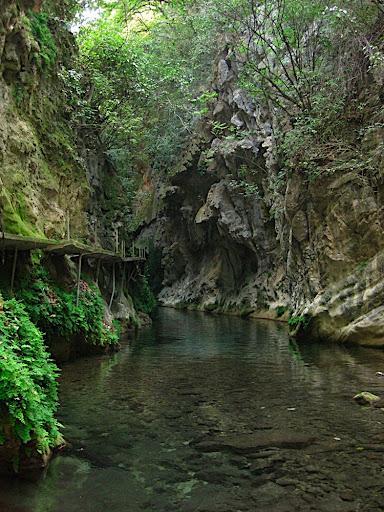 Cañón de la Angostura en el río Escaneda