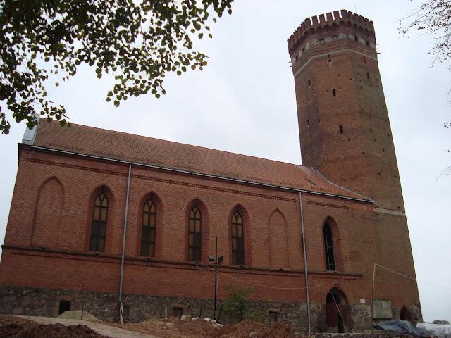 Zamek w Człuchowie - prawie jak...gotyk