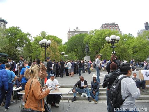 Crowd at Union Square, Manhattan, New York City.