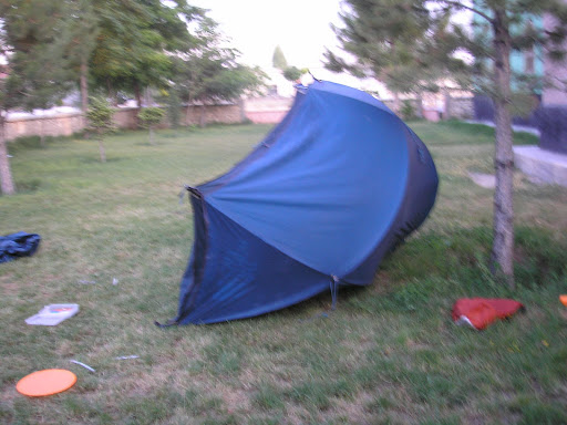 I came back to my tent to find it had been ransacked. Did I have the presence of mind to take a photo of it? No. I couldnt even find my camera and thought it had been stolen. In fact it hadnt been stolen, only used - to take photos of the pillage.