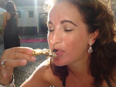 Genieten van de oesters