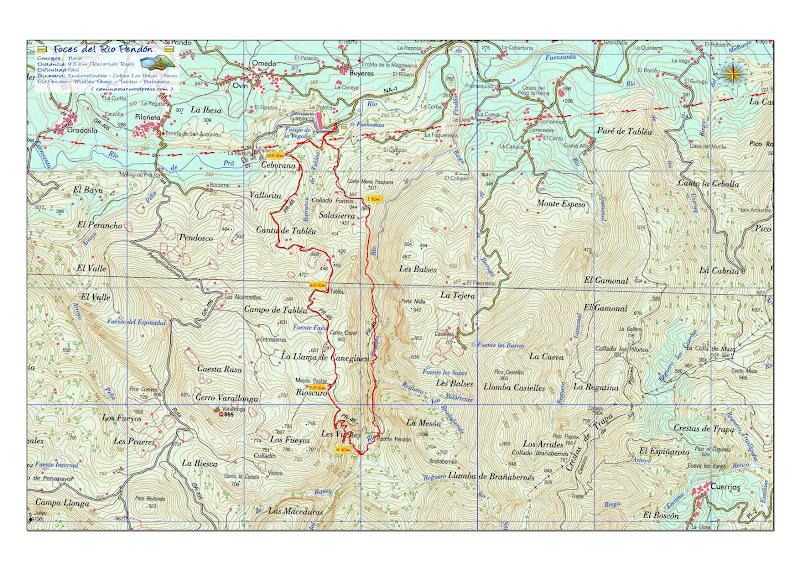 Mapa Foces Rio Pendón