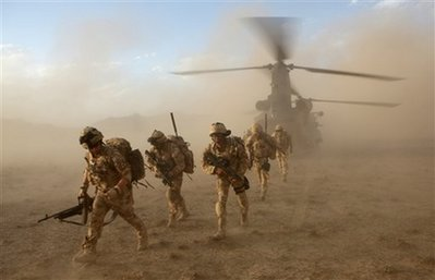 British soldiers in Afghanistan's Upper Sangin Valley