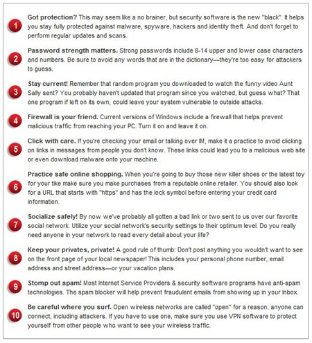 10 cyber safety tips
