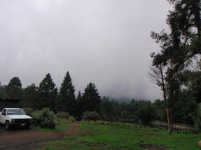 15 min after getting to this spot..not looking good..just picture a big volcano where those clouds are and thats what I should have been seeing ahhhh