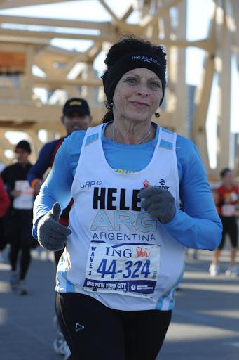 Helen, Elena Mesia Maratón de New York Noviembre 2010