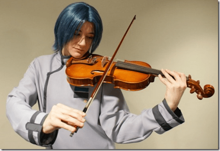 onegai my melody cosplay - hiiragi keiichi by knuxiechan