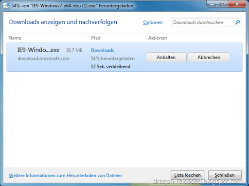 IE9 Download Manager