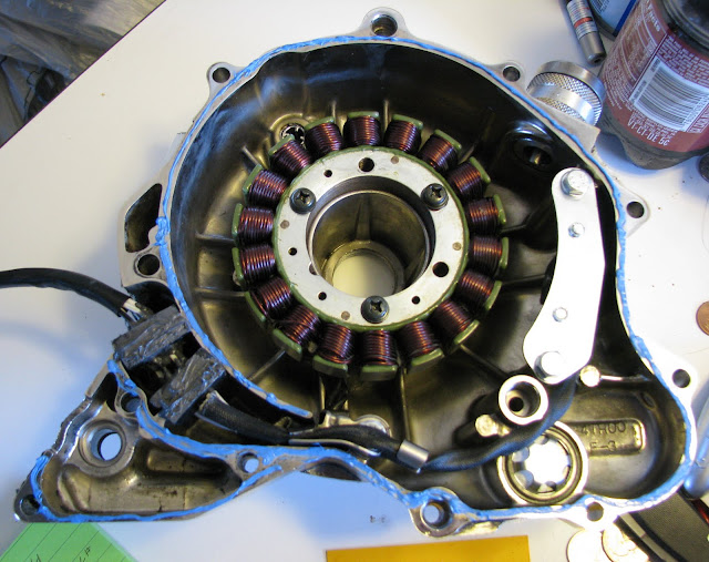 V Star 650 pickup coil and stator replacement | Zia Rider Blog