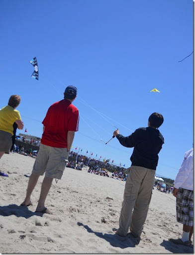 Lincoln City Kite Festival Quad Record Nate Flying