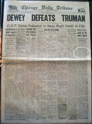 Nathan's Design Blog: Dewey Defeats Truman